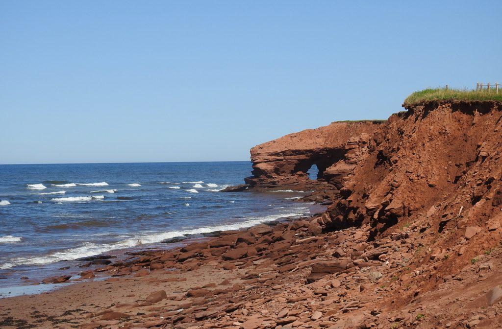 North Rustico red cliffs